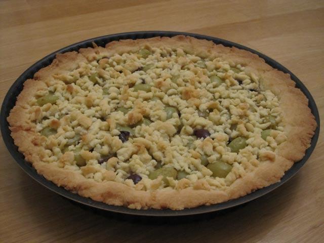 виноградный пирог без яиц