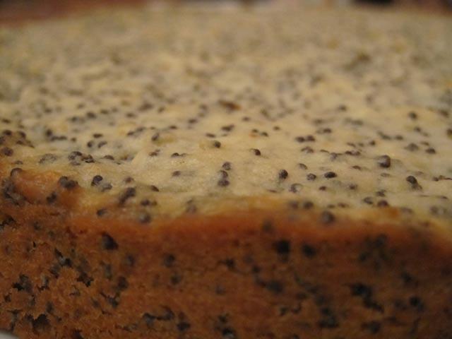 Маковый пирог с лимонными нотками (без дрожжей)