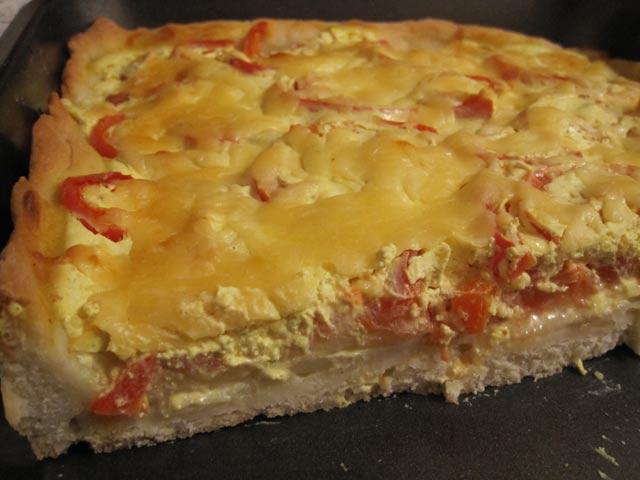 Овощной пирог - вегетарианская пицца