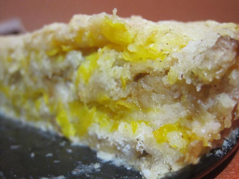 Пирог с яблоками и тыквой из сухого теста