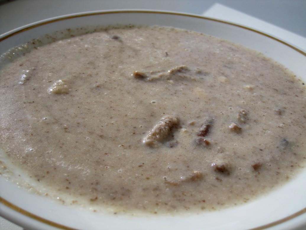 суп-пюре с фасолью и грибами