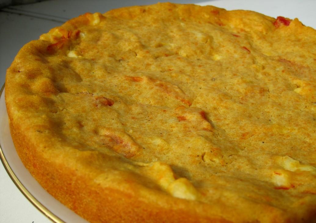 гороховый пирог на кефире без яиц