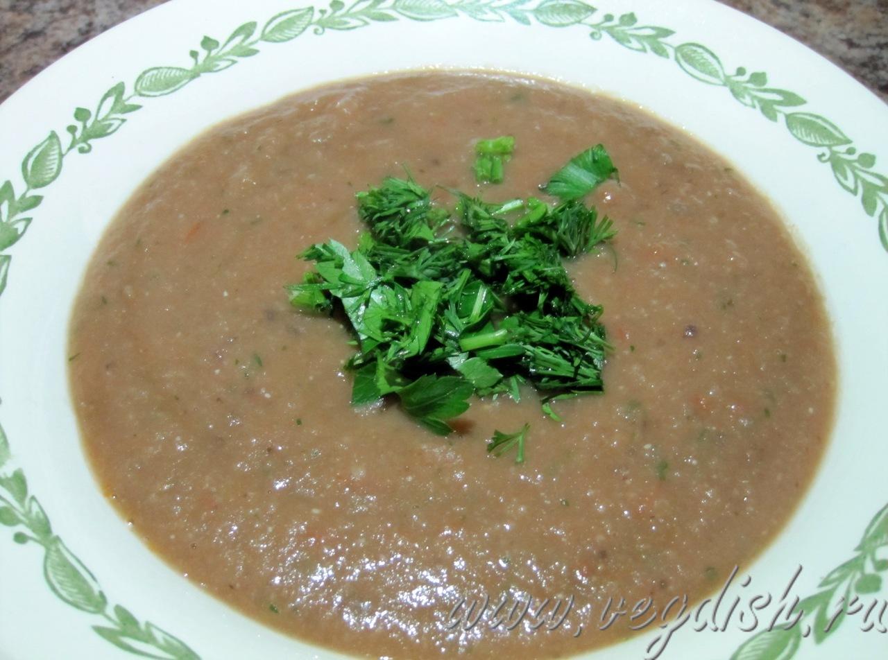 суп-пюре из баклажанов и чечевицы