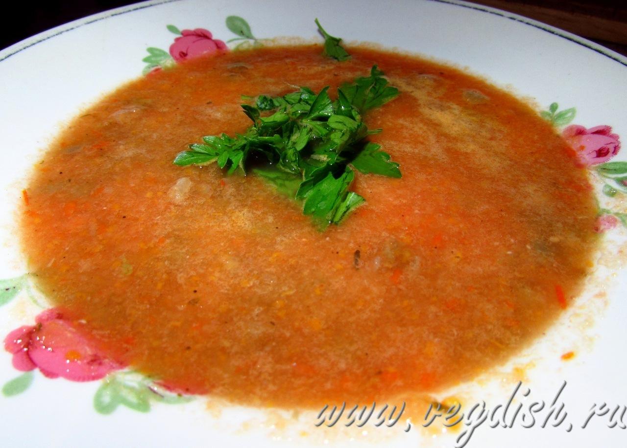Капустный суп пюре с чечевицей