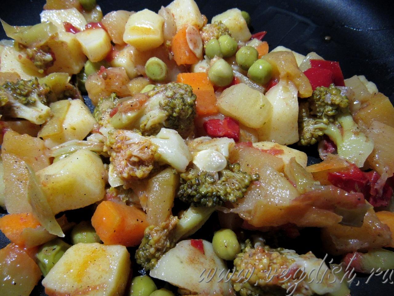 Рагу из овощей с тыквой