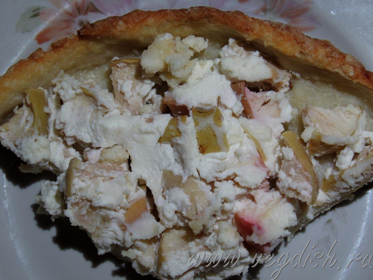 Яблочный пирог с рикоттой