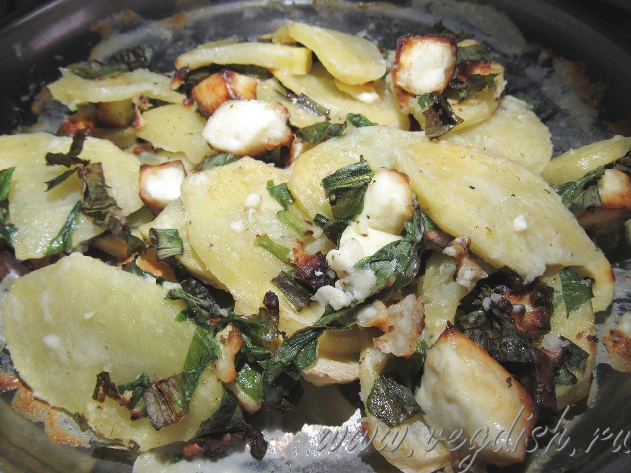 Картофельный гратен с черемшой