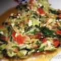 Омлет со шпинатом и свекольной ботвой без яиц