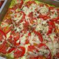 Пицца на тесте из кабачка