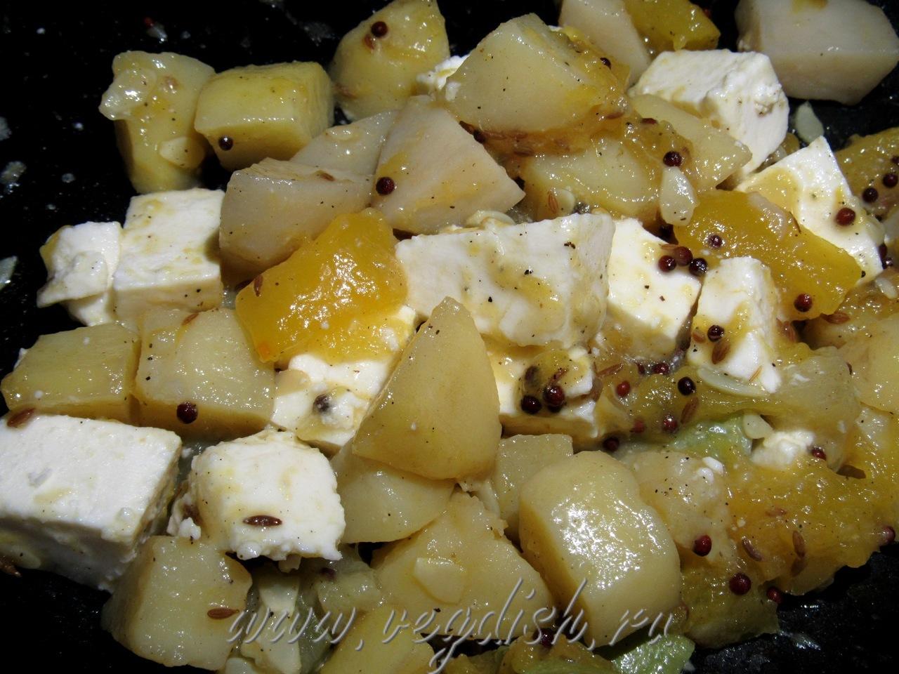 Сабджи из тыквы и кабачка