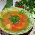 Суп с пшеном и сельдереем