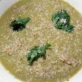 Суп пюре со стручковой фасолью и миндалем