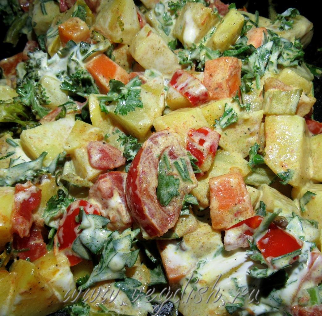 Сабджи с кабачком и брокколи