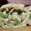 Закуска из лаваша с цветной капустой и брокколи