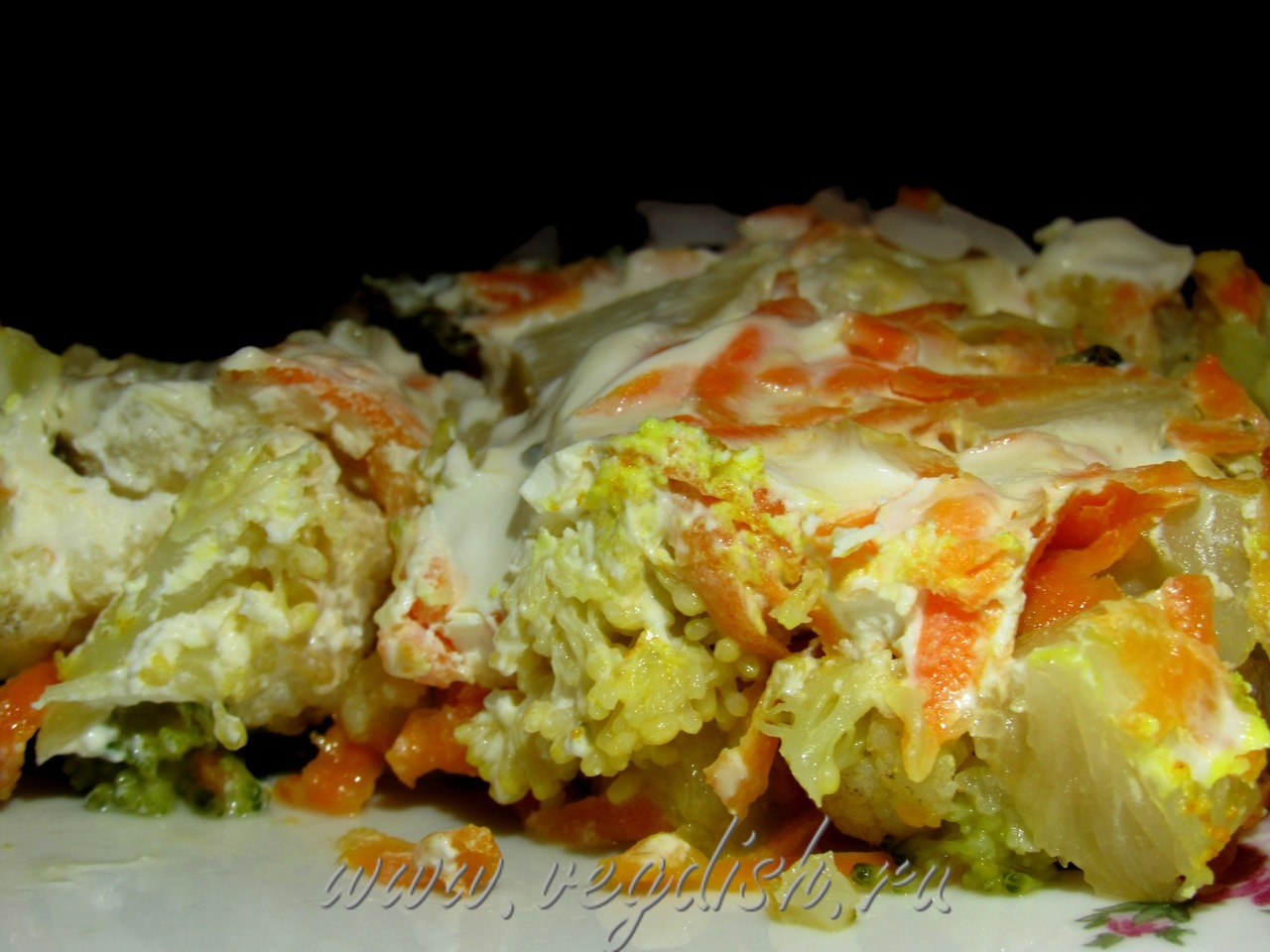 запеканка с кабачками и цветной капустой в духовке