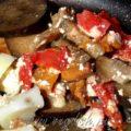 Картошка с баклажанами и лисичками