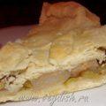Пирог с грушей и виноградом