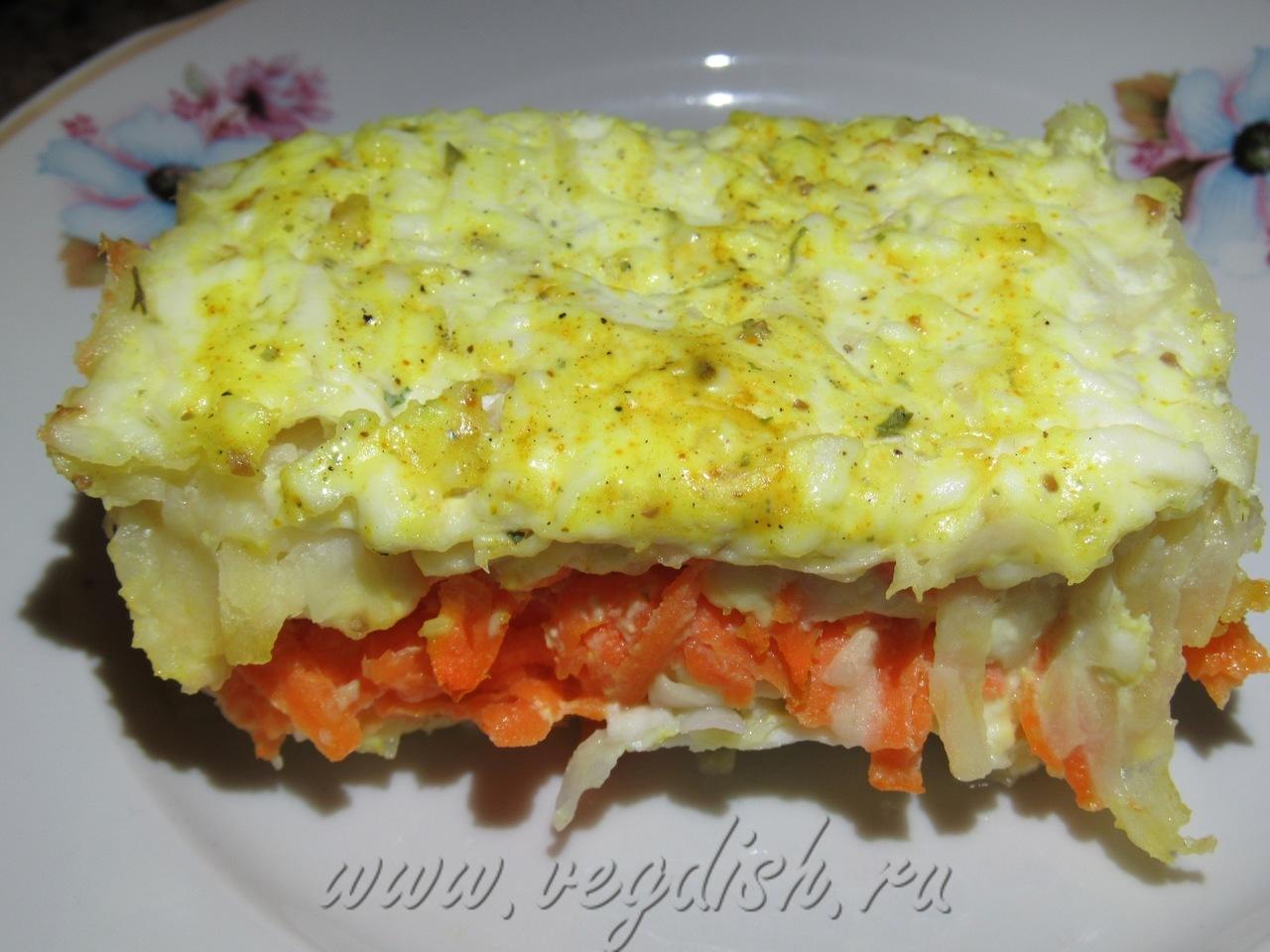 Картофельная запеканка с морковью
