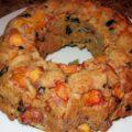 Пирог с хурмой и изюмом