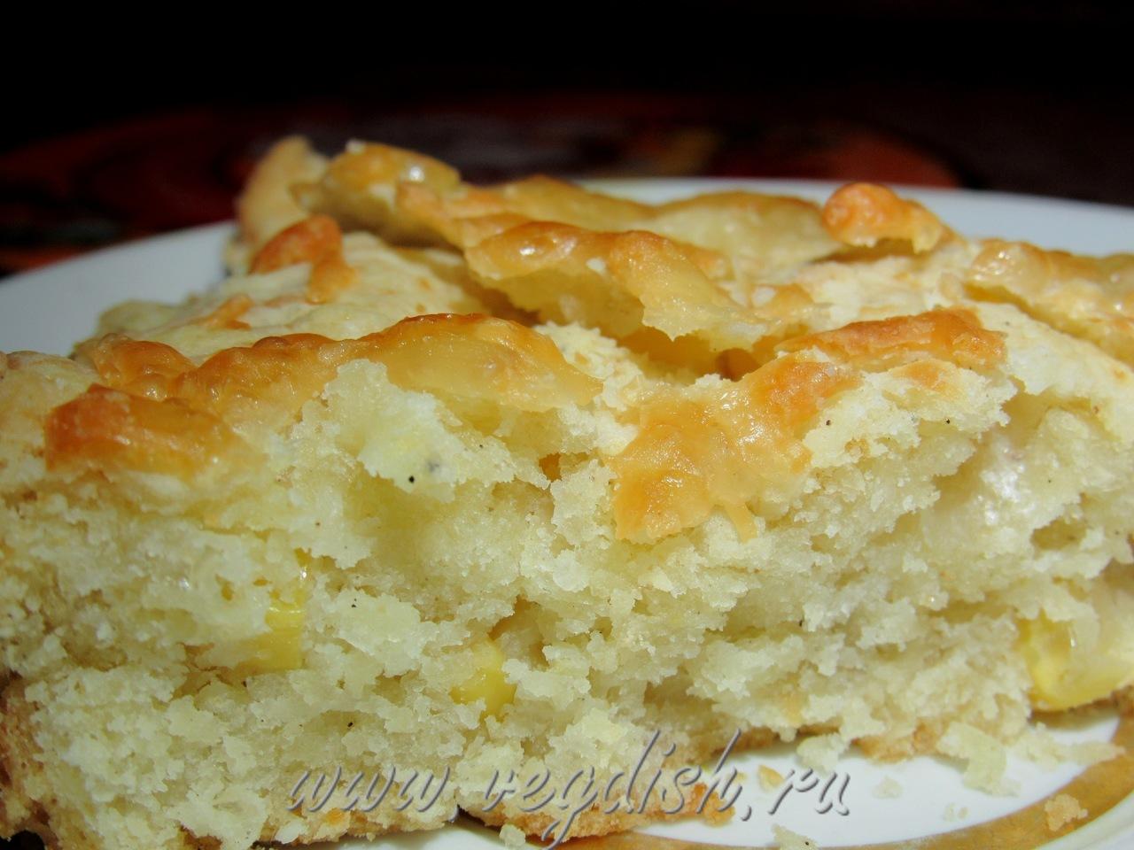Сырный пирог с кукурузой