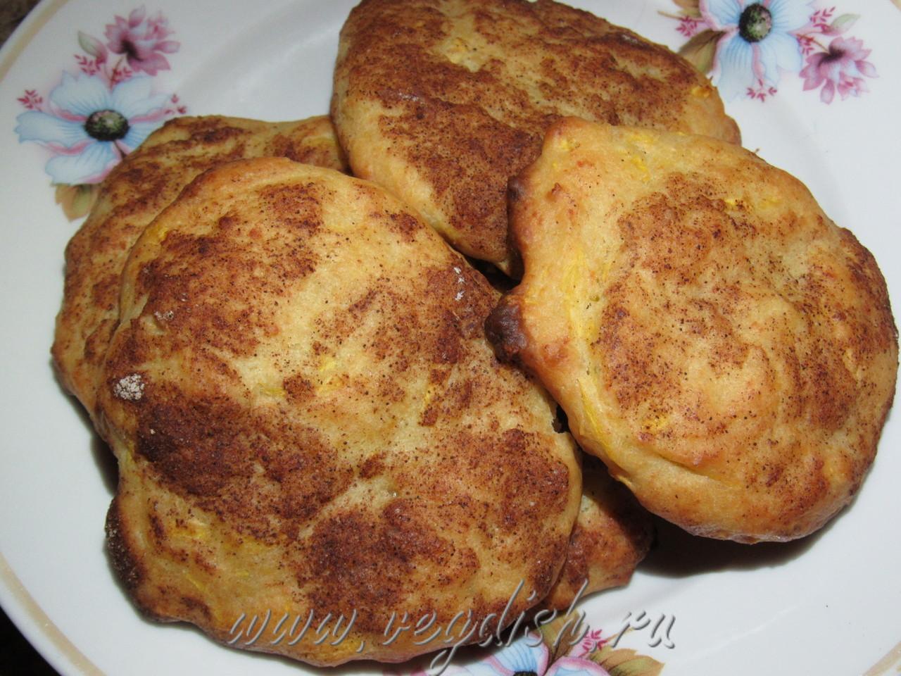 Пряные творожные печенья с тыквой