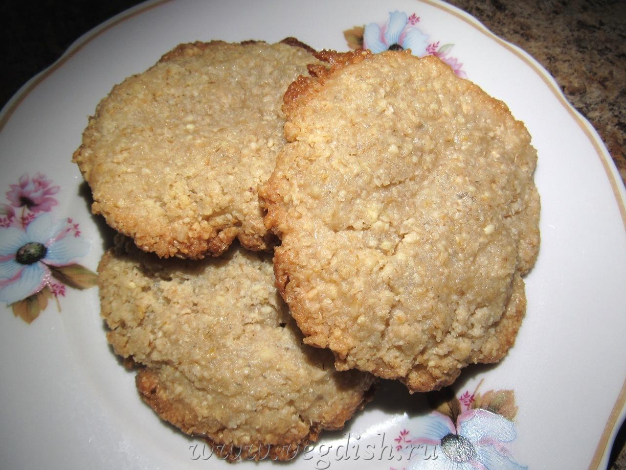 Вегетарианское миндальное печенье