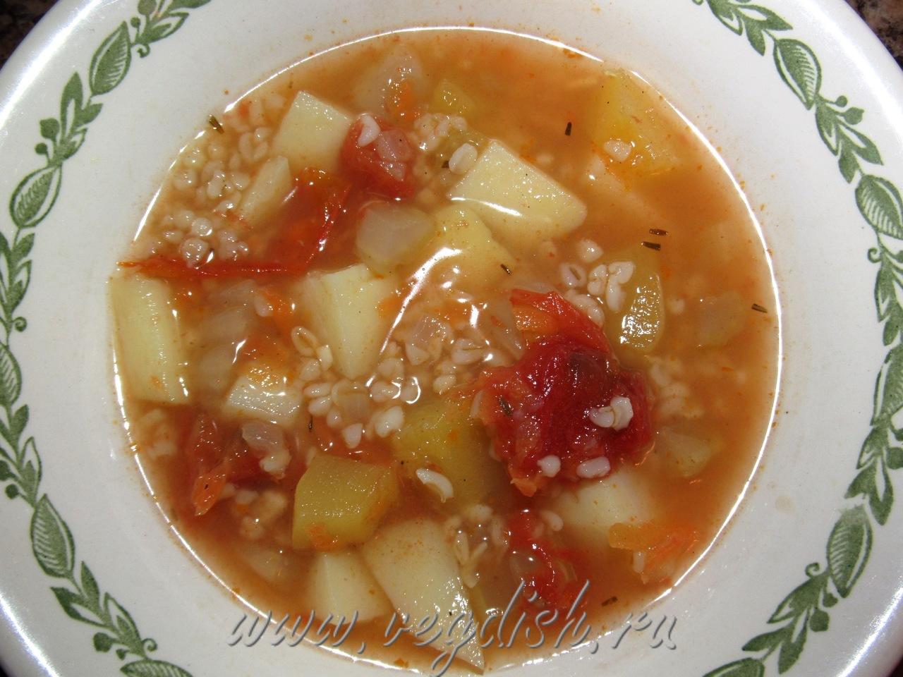 Суп с булгуром и сельдереем