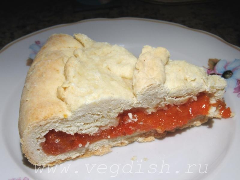 Пирог с курагой на сметане