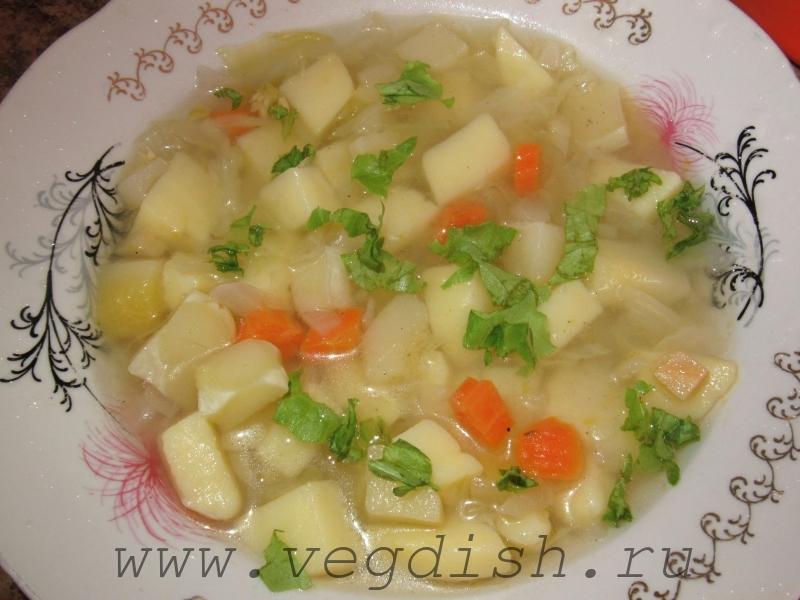 Суп с патиссонами