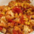 Цветная капуста с кукурузой