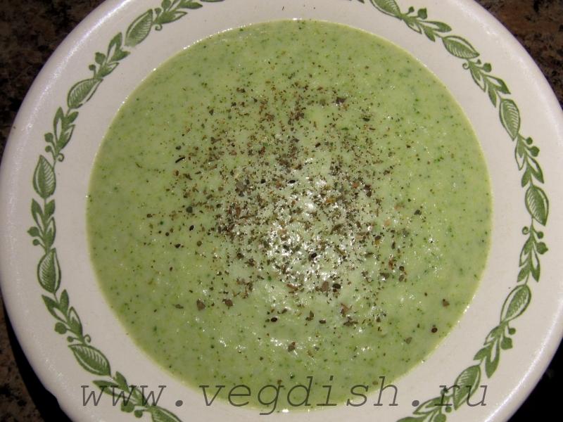 Суп пюре с брокколи и дор блю