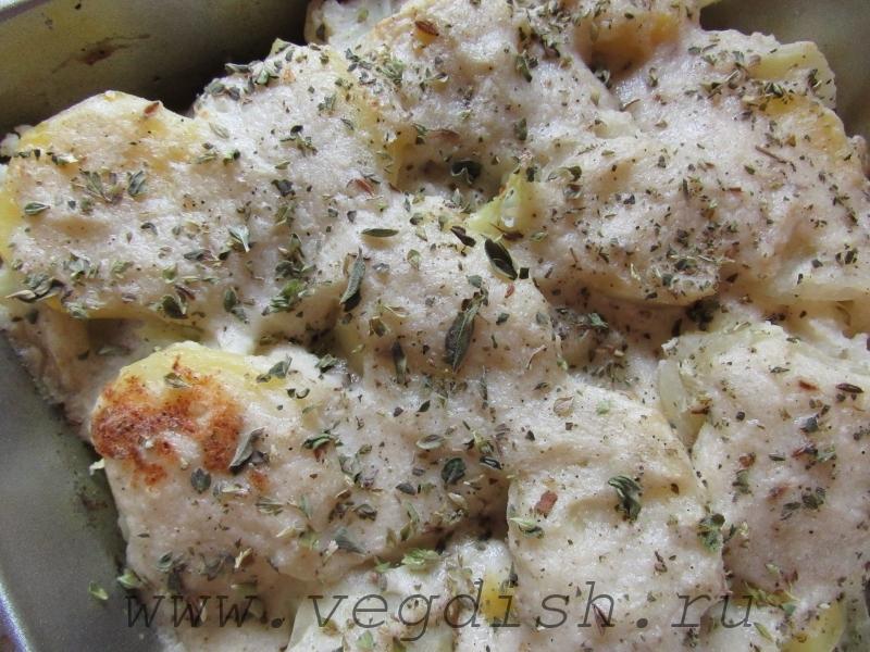 Картошка с соусом из цветной капусты