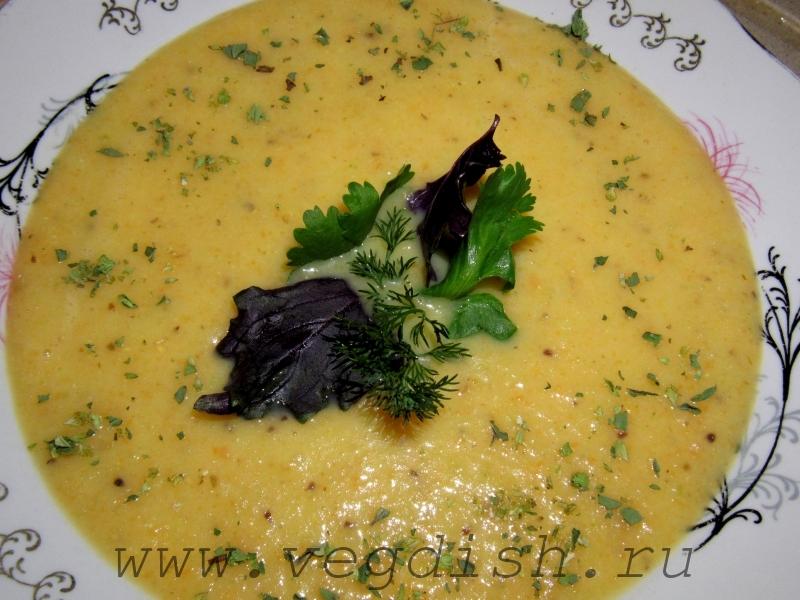 Суп пюре из лука порея, сельдерея и моркови