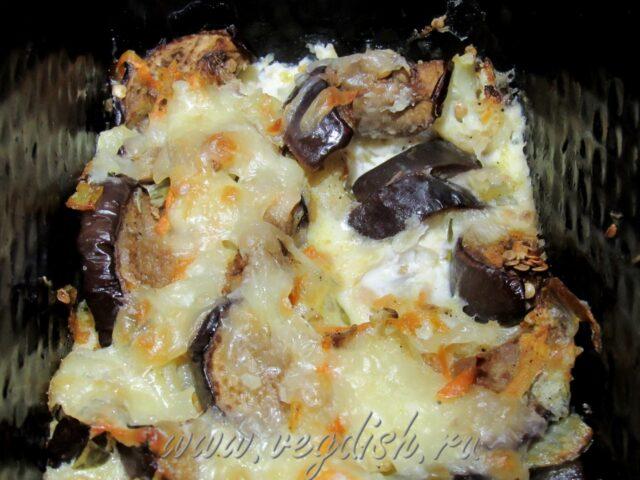 Запеканка из баклажан и цветной капусты