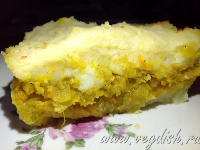 Картофельная запеканка с капустой