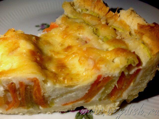 Пирог с морковью и кабачком