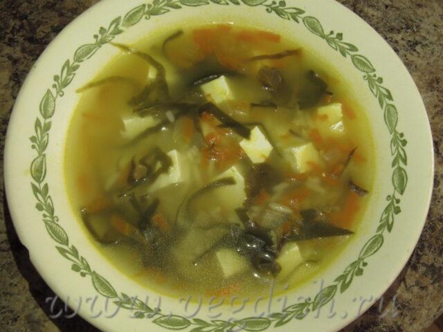 Рисовый суп с морской капустой
