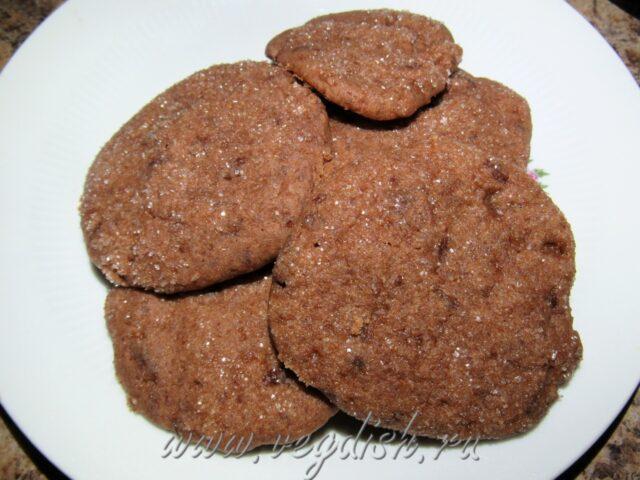 Шоколадное медовое печенье