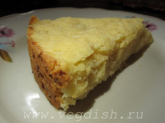 Сырный пирог из кукурузной муки